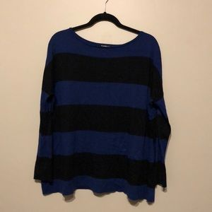 Express blue and black stripe sweater